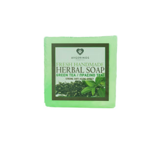 GREEN TEA SOAP HANDS BODY FACE HANDMADE