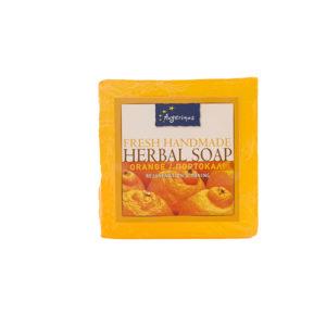 ORANGE SOAP HANDS FACE BODY HANDMADE